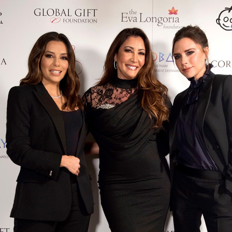 Dine with Eva Longoria, Victoria Beckham and Maria Bravo at the Global Gift Gala