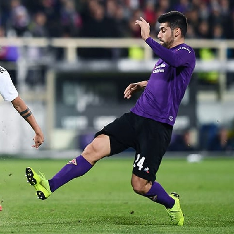 Benassi's Worn Shirt with Mandela Patch, Fiorentina-Juventus