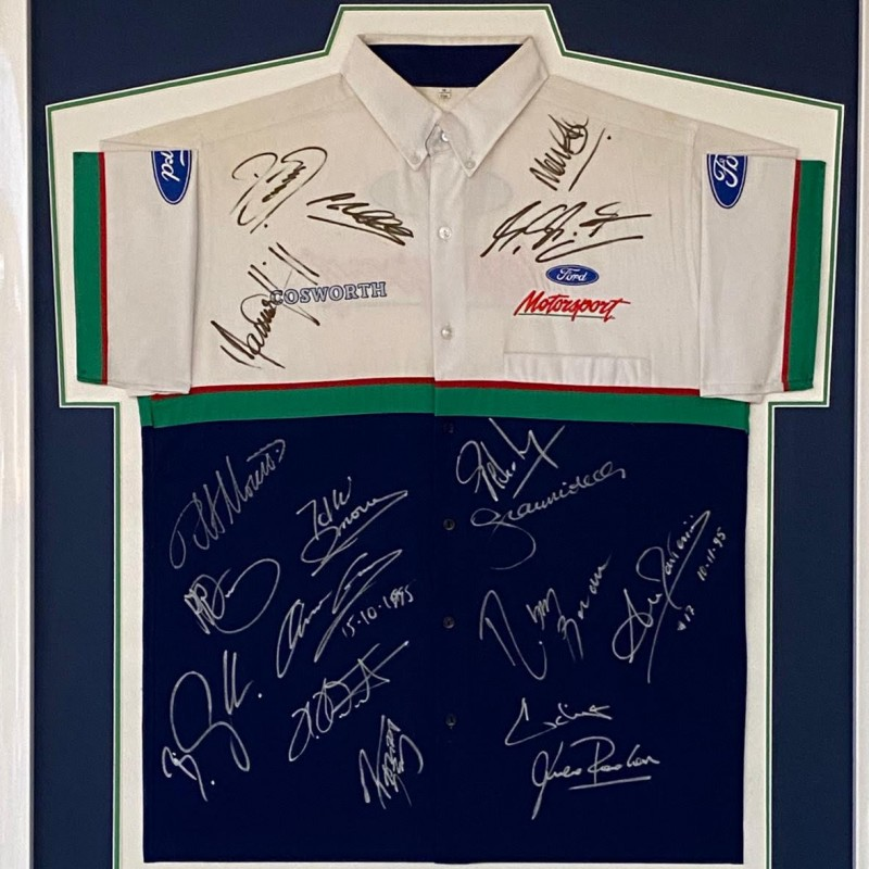 Formula 1 Shirt Signed by the Grid from the 1995 World Championship, Professionally Framed