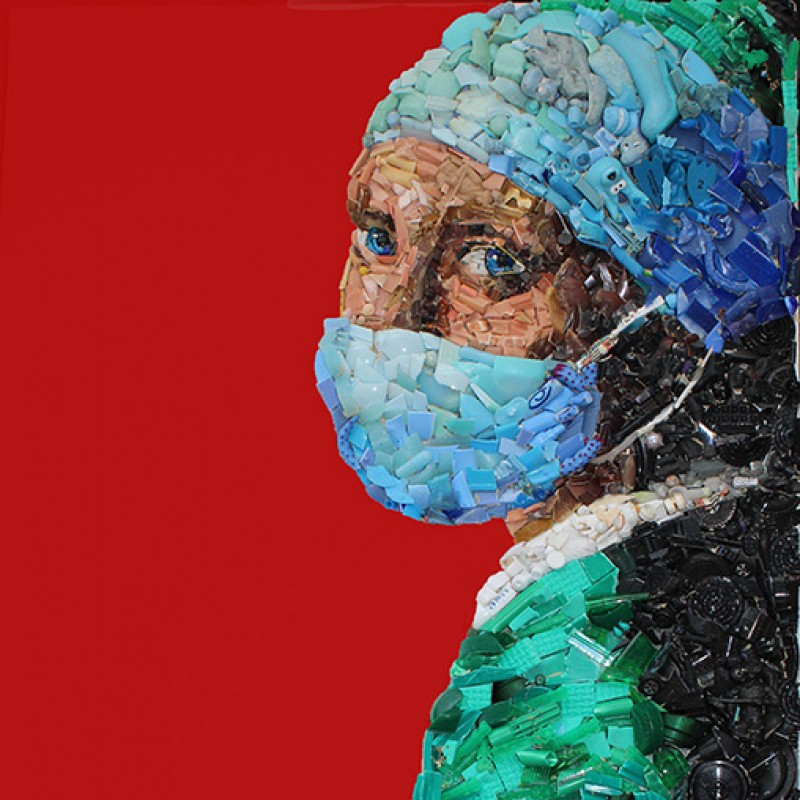 """Nurse with a Pearl Earring"" by Lady Be"