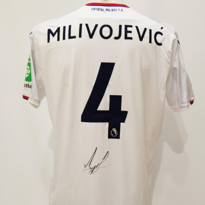 Luka Milivojevic Match Worn & Signed Crystal Palace Shirt