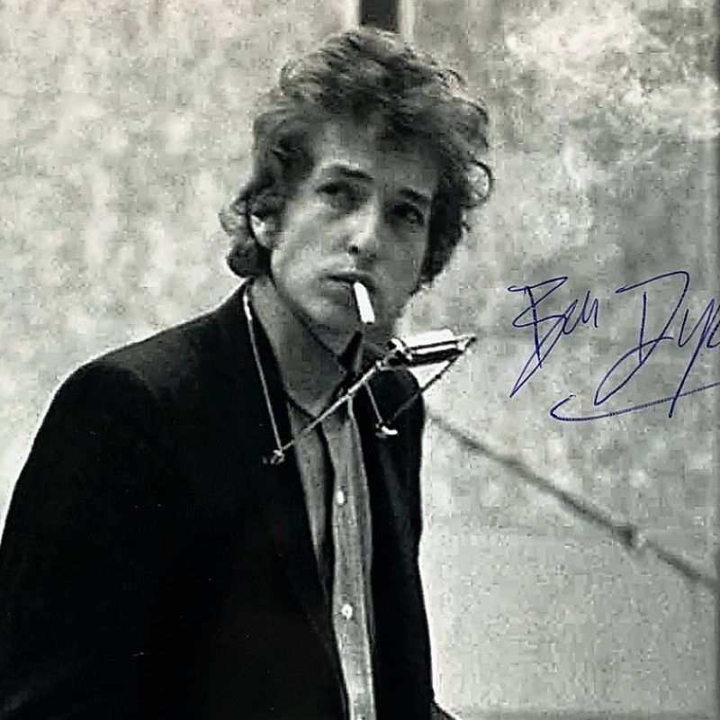 Bob Dylan Signed Photograph