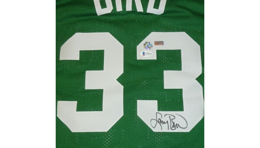 Larry Bird Signed Boston Celtics Framed Jersey