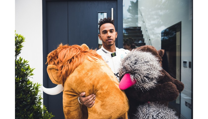 Stuffed Mammoth from Mercedes-AMG Commercial Starring Lewis Hamilton