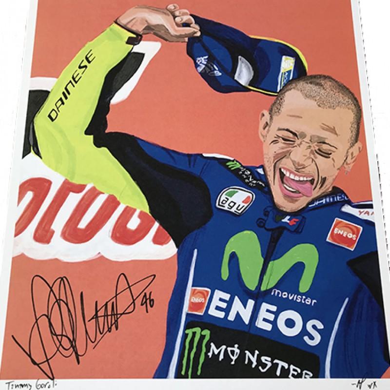 """Valentino Rossi: Race 7, Assen"" by Tammy Gorali"