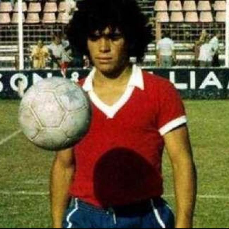 Maradona's Argentinos Juniors Worn Shirt, 1978 - COA Included