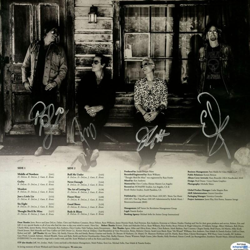 Stone Temple Pilots Hand Signed Album Sleeve