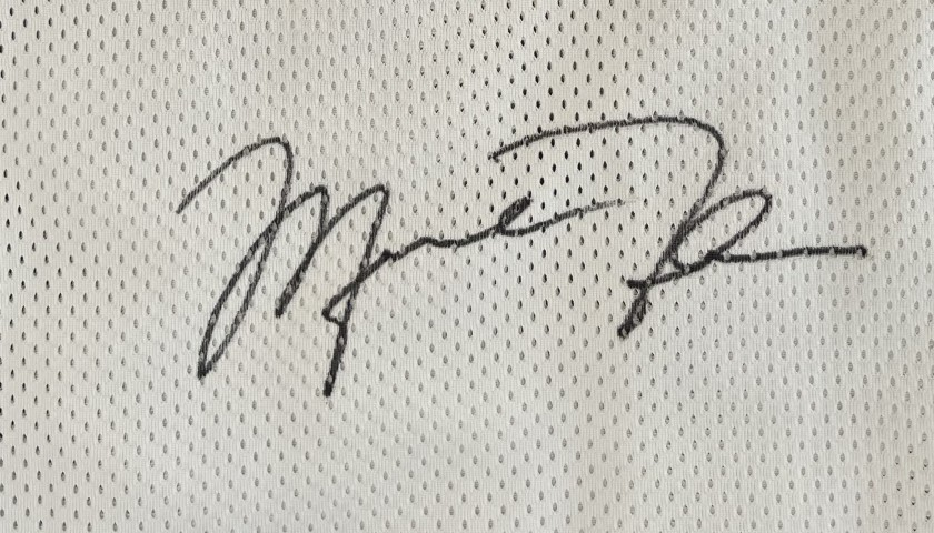 Jordan's Official Bullets Signed Jersey