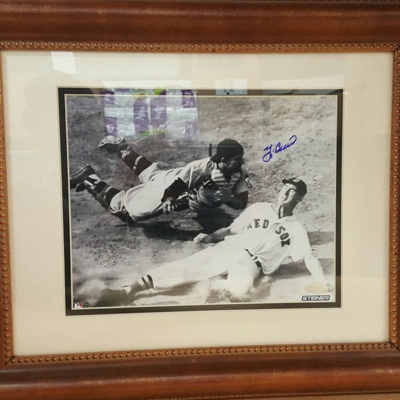 Yogi Berra Hand Signed New York Yankees Photograph