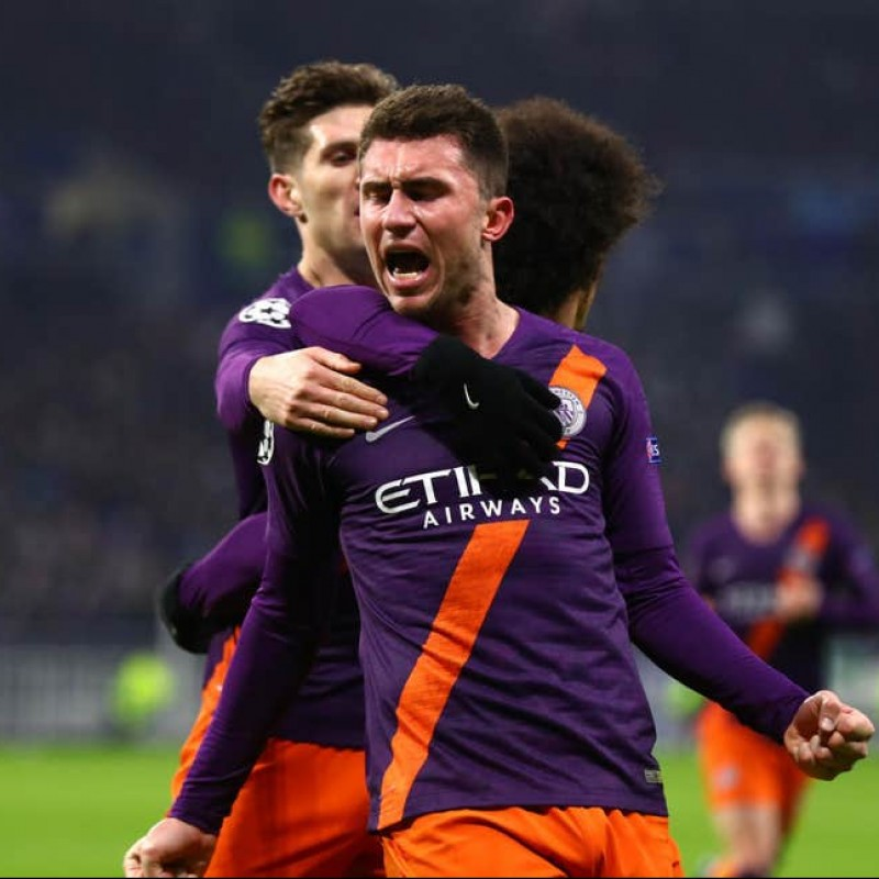 Laporte's Manchester City Match Shorts, Champions League 2018/19
