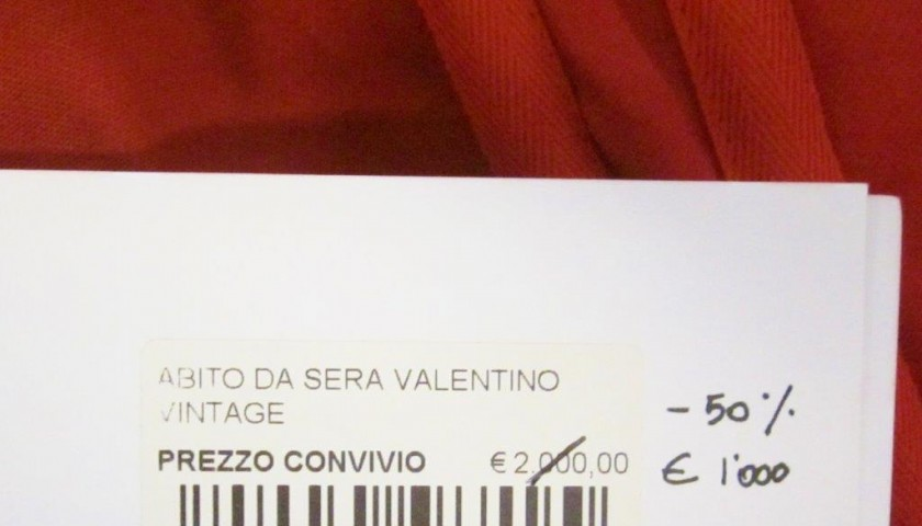 Valentino long dress given for Convivio