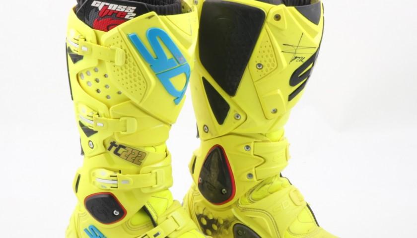 Tony Cairoli worn SIDI boots - Signed