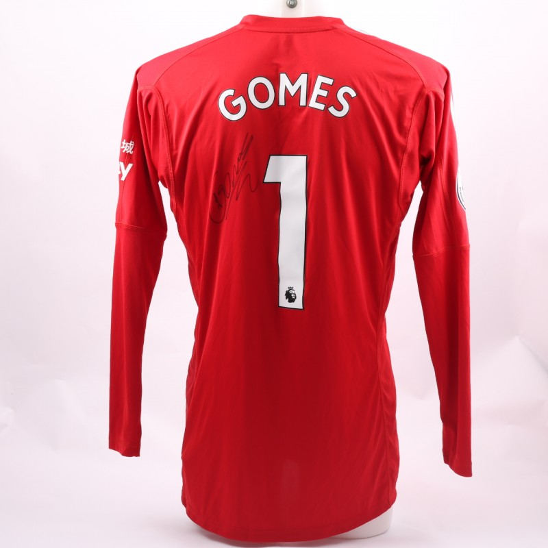 Gomes' Watford FC Issued and Signed Poppy Shirt