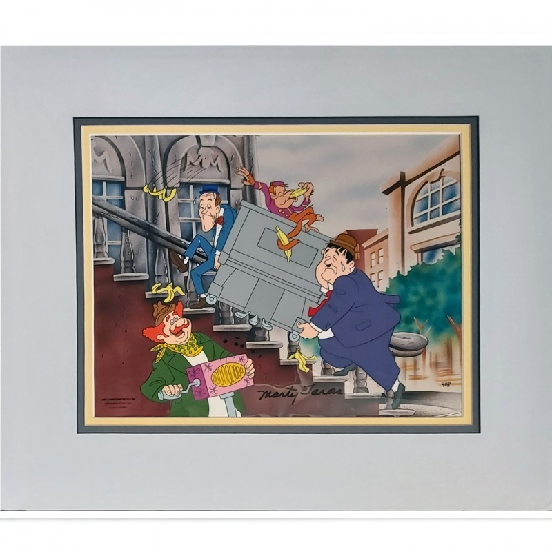 Laurel and Hardy Limited Edition Signed Production Cel