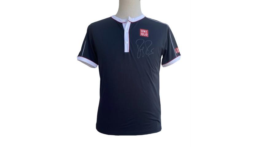 Roger Federer's Match-Issued Signed Shirt, US Open 2019
