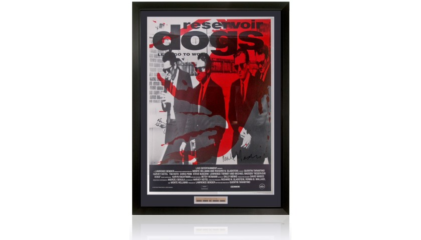 Large Reservoir Dogs Movie Poster Signed by Harvey Keitel & Michael Madsen