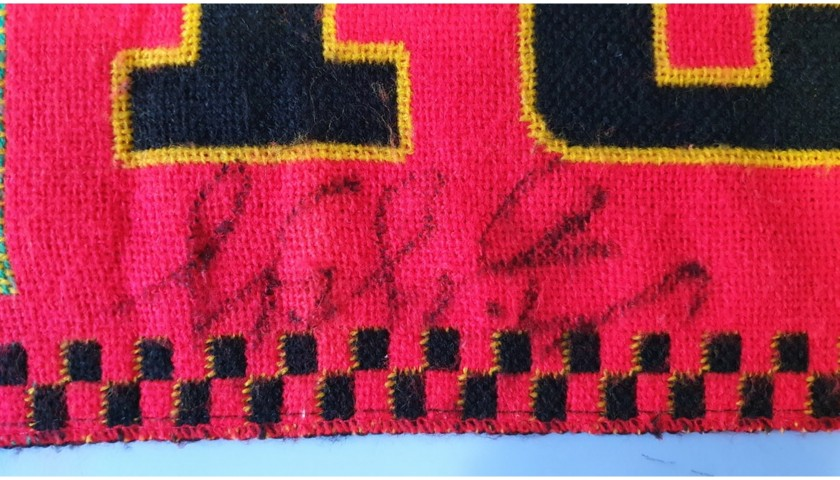 Ferrari Scarf Signed by Michael Schumacher