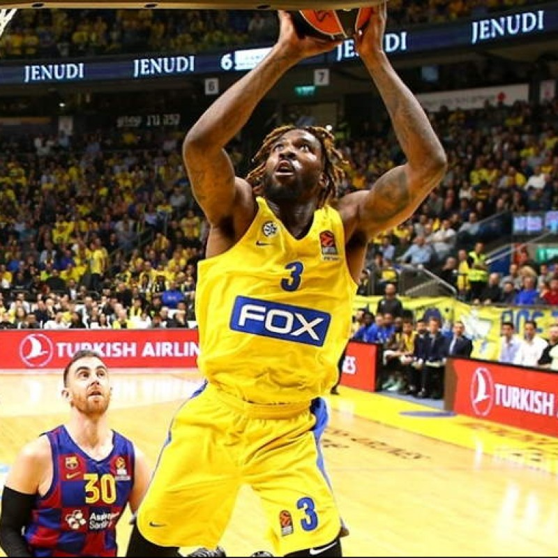 Reynolds' Maccabi Tel Aviv Worn Jersey, Euroleague 2019/20 - Signed by the squad