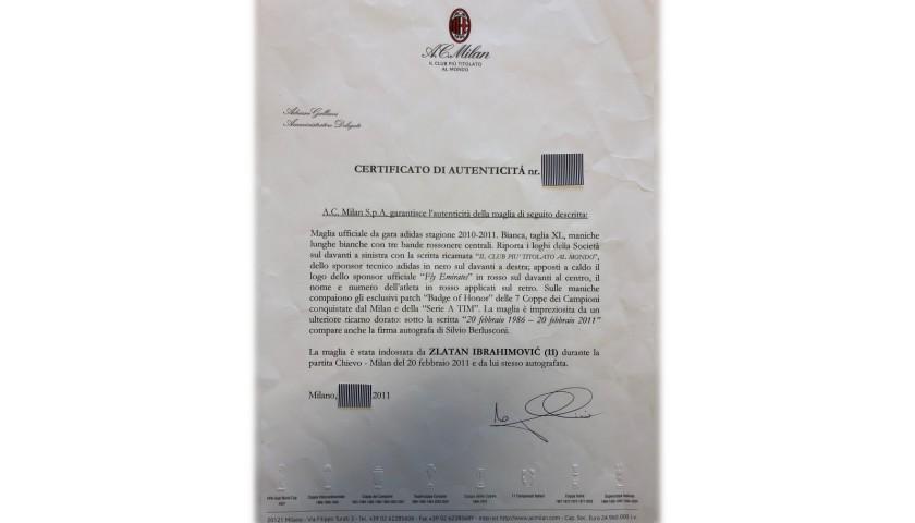 Ibrahimovic's Worn Shirt, Chievo-Milan 2011 - 25th Anniversary Berlusconi