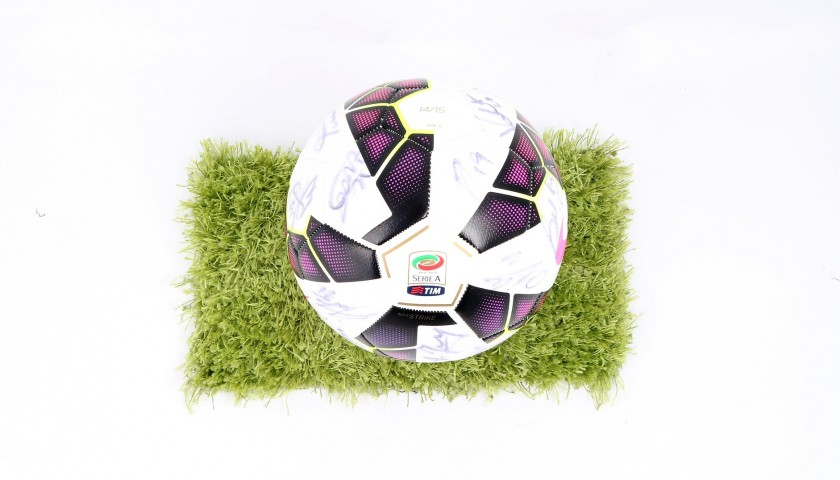 Serie A 2014/15 Matchball - Signed by Hellas Verona Players