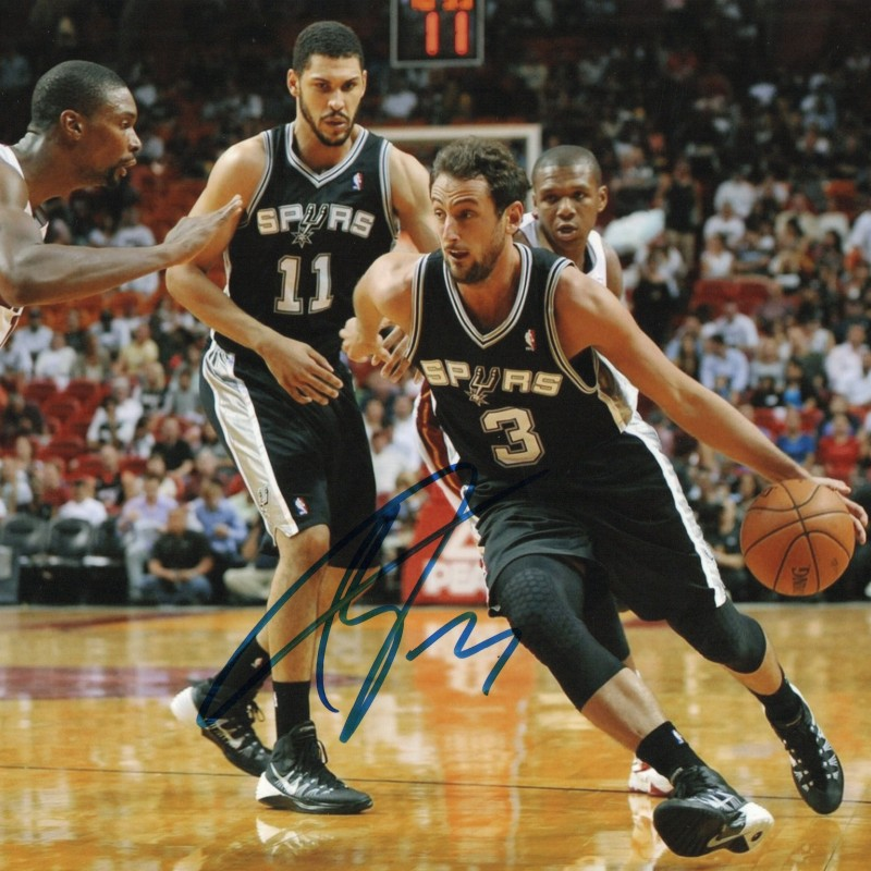 Marco Belinelli Signed Photograph - 20x25cm