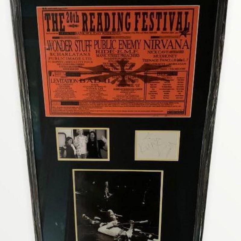 Nirvana Fully Signed Framed Reading Festival 1992 Display Certified