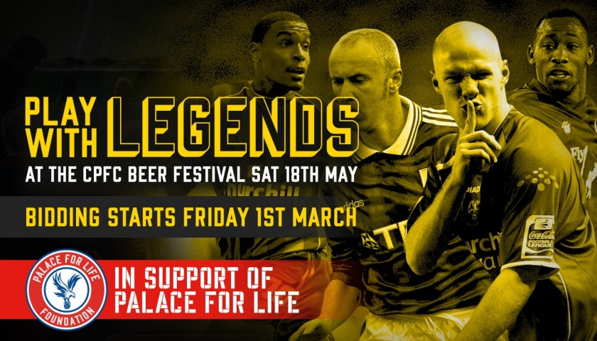 Play Left Midfield Alongside Crystal Palace F.C Legends John Salako and Fitz Hall