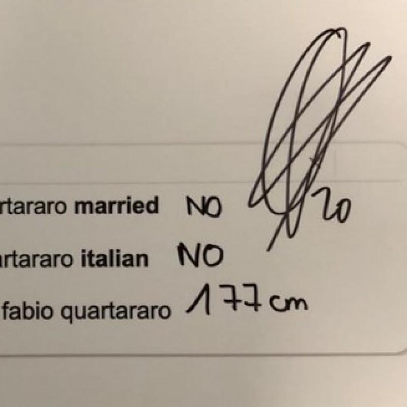 Signed Fabio Quartararo 'Top 3 Google Searches' Board from the Grand Prix of Styria