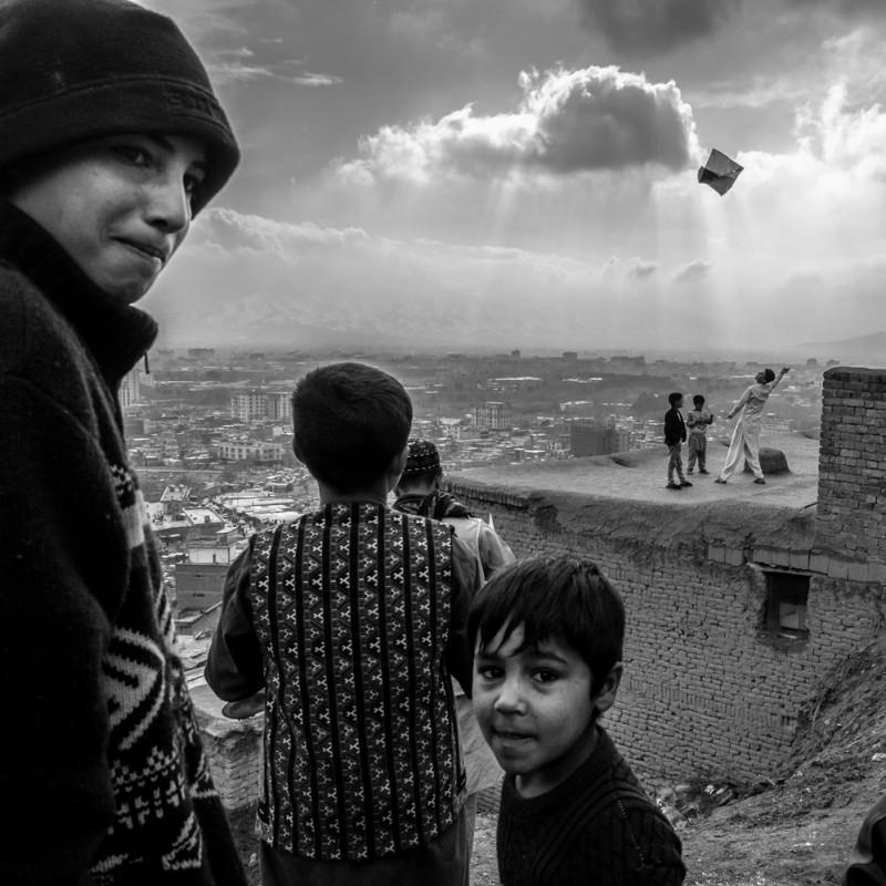 """Kabul - Kites on a Hill"" Photograph by Isabella Balena"