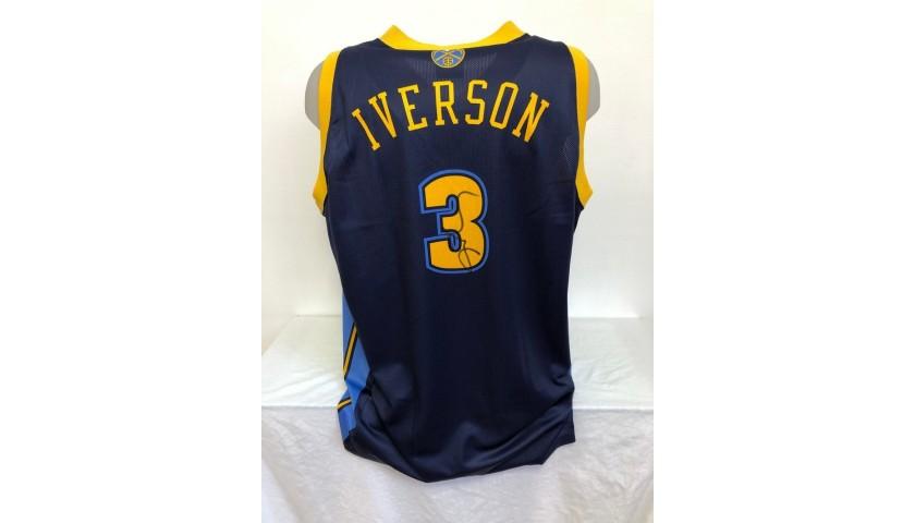 Allen Iverson's Official Denver Nuggets Signed Jersey, 2006/08
