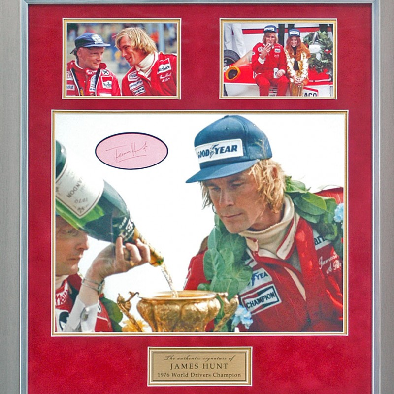 James Hunt hand signed Formula 1 Photo