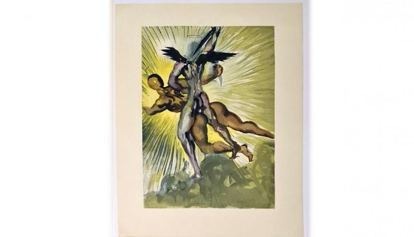 Original Board by Salvador Dalì - Divine Comedy Purgatory Canto VIII