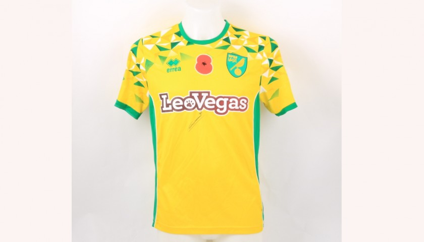 Cantwell's Norwich Poppy Match Shirt - Signed