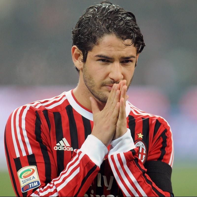 Pato's AC Milan Match-Issue/Worn Shirt, 2011/12
