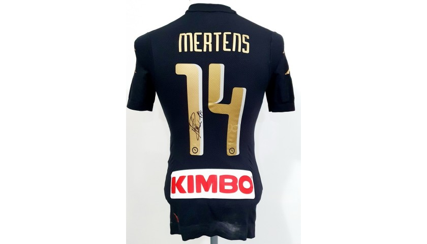 Mertens' Napoli Worn and Signed Shirt, 2016/17