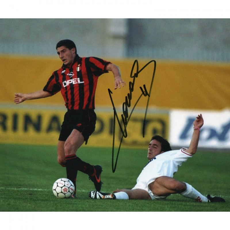 Photograph Signed by Footballer Daniele Massaro