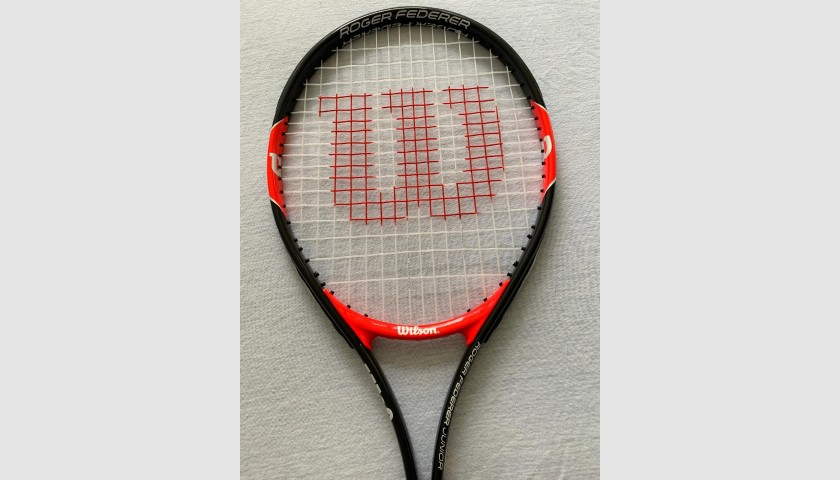 Wilson 25 Tennis Racquet - Signed by Roger Federer