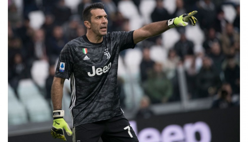 Buffon's Official Juventus Signed Shirt, 2019/20 - CharityStars