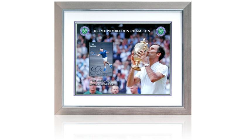 Roger Federer Signed Tennis Photo Presentation