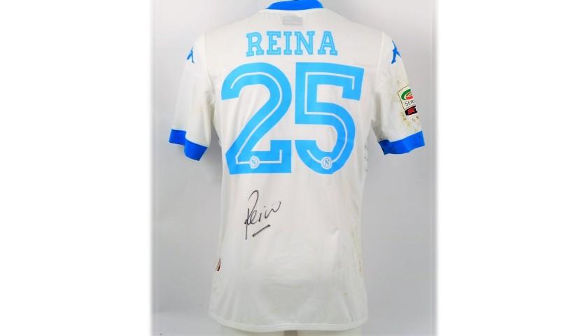 Reina's Napoli Worn and Signed Shirt, 2015/16