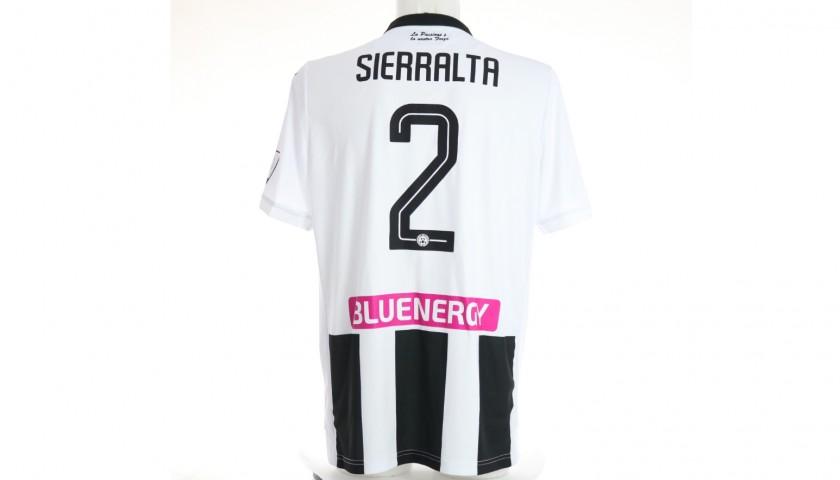 Sierralta's Special Worn Shirt, Udinese Calcio -SPAL