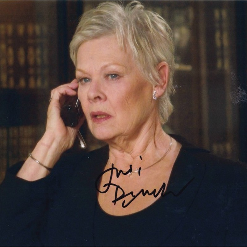 James Bond - Photograph Signed by Judi Dench