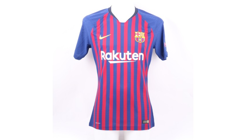 Jordi Alba's Barcelona Match Shirt, UCL 2018/19