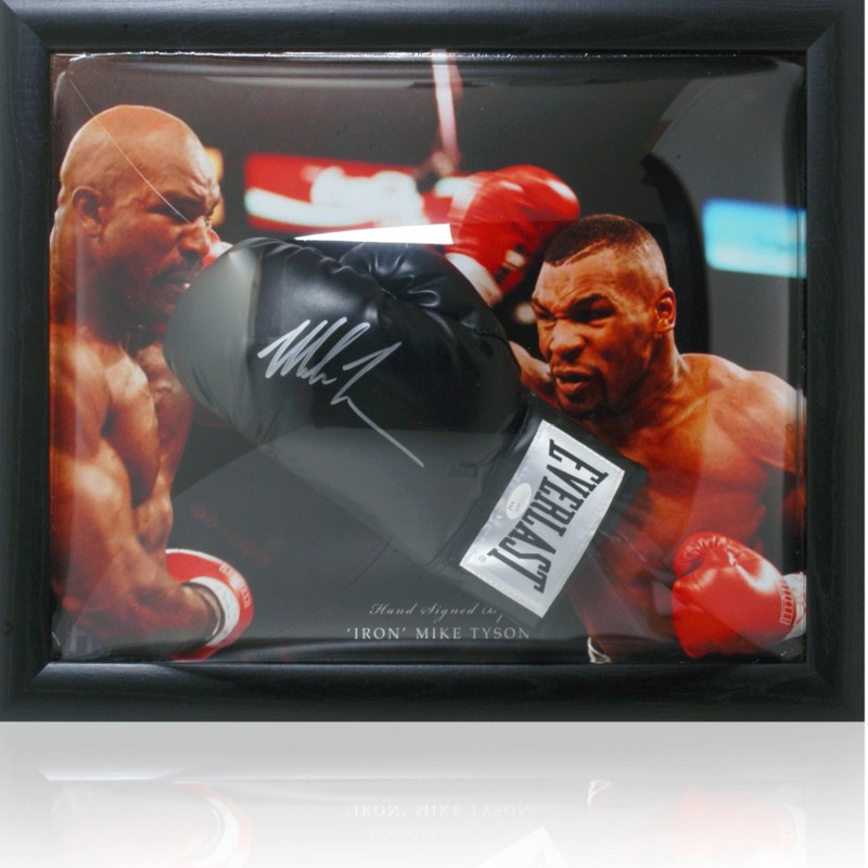 Mike Tyson Hand Signed Boxing Glove Presentation