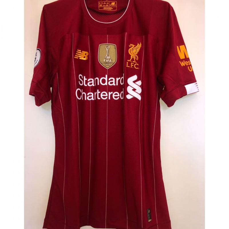 Salah's Match Shirt, Liverpool-Wolverhampton 2019