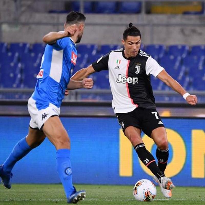 Ronaldo Match Signed Shirt, Italian Cup Final 2020