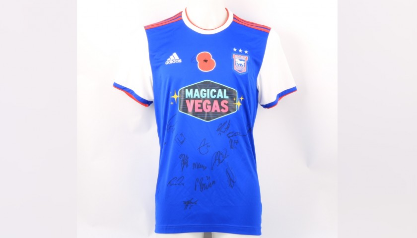 Ipswich Town Official Poppy Shirt Signed by the Team