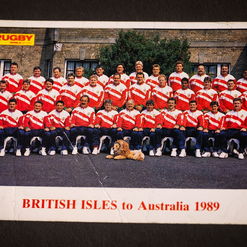 Squad Signed Postcard from the 1989 Lions Tour to Australia