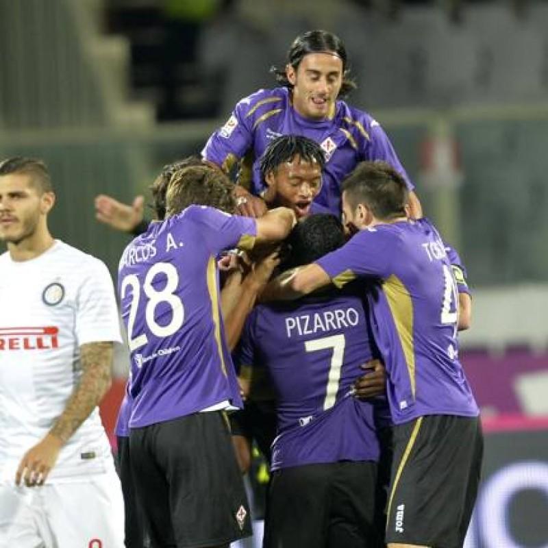 Aquilani's Worn and Signed Shirt, Fiorentina-Inter 2014
