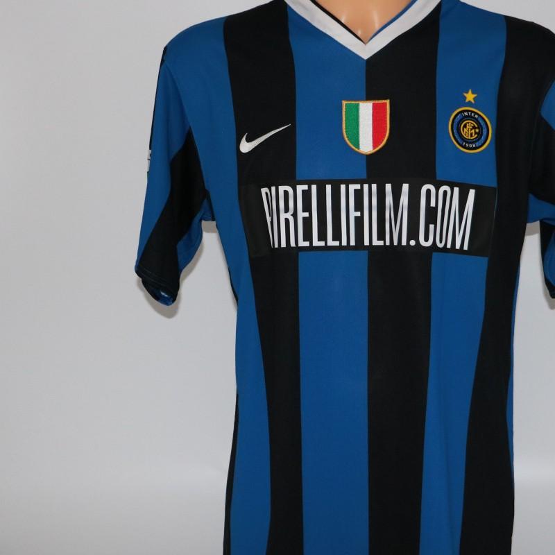 Luis Figo shirt issued/worn Inter-Lazio 13/05/2007